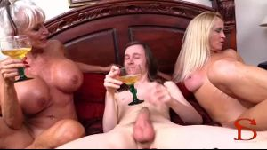 Mom Joins Granny For A Threesome.