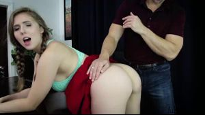 Lena Paul Is Dared To Fuck Daddy.