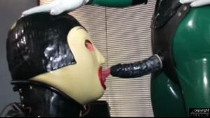 Rubber Boy Gets Strap On Trained..