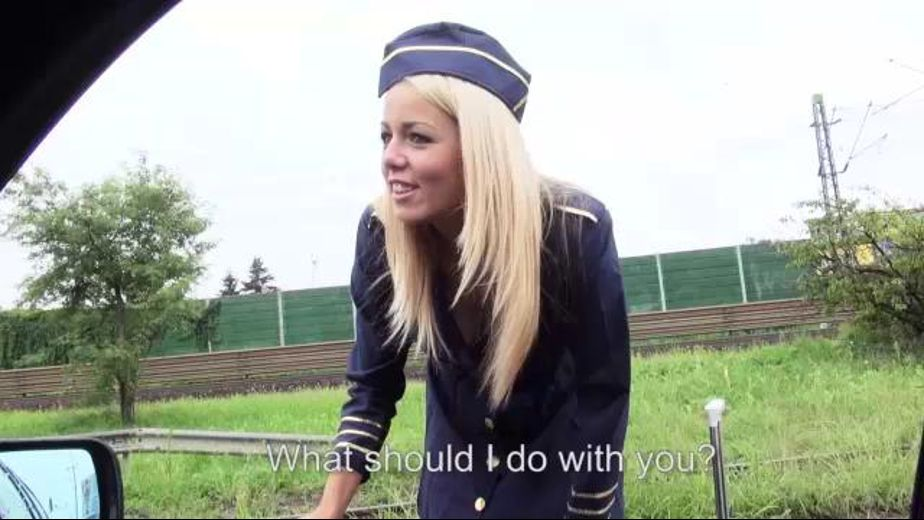 Stewardess Stranded Roadside, starring Christen Courtney, produced by MOFOS. Video Categories: Gonzo, College Girls and Anal.