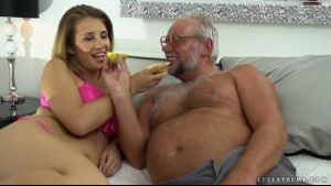 Grandpa Scores Some Younger Pussy.