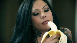 Stoya Devours A Big Banana.