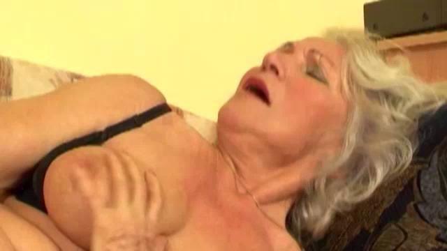 Grandma gets a dildo