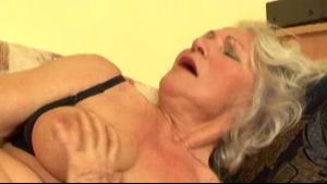 Nasty Granny Gets Ready With A Dildo.