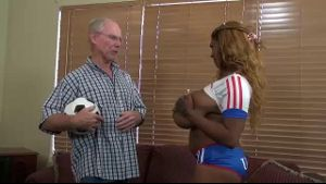 Rachel Raxxx Busty Black Soccer Player.