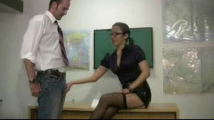 Teacher Administers An After School Handjob.