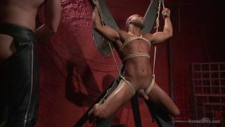 Bound Gods: Tormented And Fucked In Bondage, Muscled Stud Micah Brandt Learns To Embrace The Pain - Scene 2