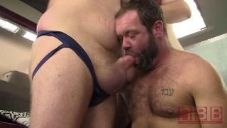 Topher Phoenix Gets Topped By Bears Graydon Emery Ford And Barrett James - Scene 1