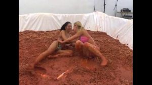 Angel Dark Goes Mud Wrestling.