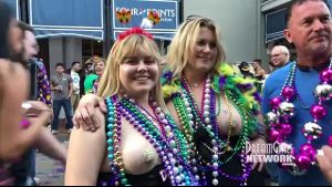 Showing Your Goods For Fat Tuesday.