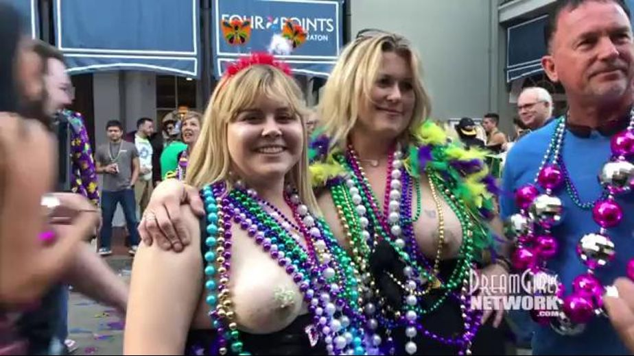 Showing Your Goods For Fat Tuesday, produced by Dream Girls. Video Categories: Amateur and College Girls.