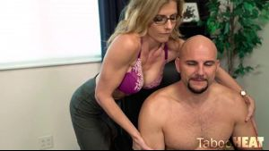 Cory Chase Gives Her Brother a Good Rubbing.