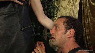 Handcuffed Slave Willfully Submits To TS Dicking - Scene 1