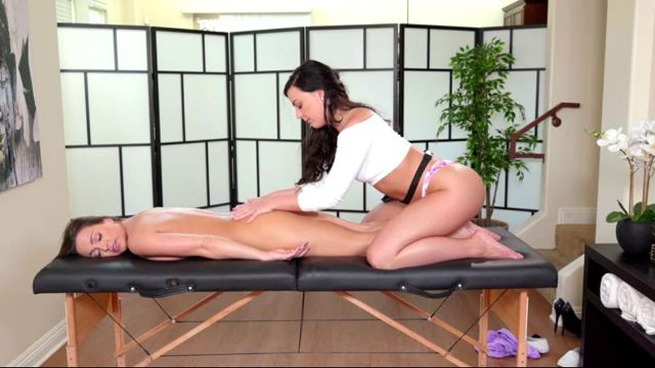 Helping Abigail Mac Relax, starring Abigail Mac and Whitney Wright, produced by All Girl Massage and Fantasy Massage Production. Video Categories: Lesbian.