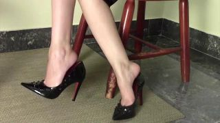Dangling Shoes And Masturbation Under The Table - Scene 1