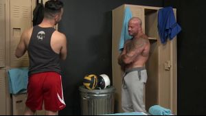 Locker Room Muscle Men Sex.