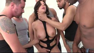 Alexis Fawx Is Ready For A Gangbang.