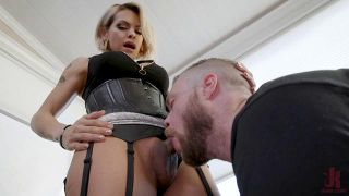 TS Goddess Foxxy Punishes Loser Boyfriend - Scene 1