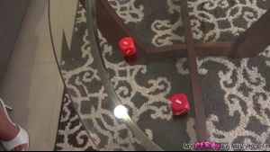Mom And Son Play A Round Of Dirty Dice.