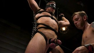 KinkMen Presents Constrained: Featuring Alex Mecum And Casey Jacks - Scene 1