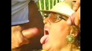 Grandma Stays Busy Being Banged at the Park.