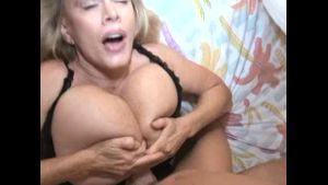 Older Blonde Has Hot Lips and Big Tits.