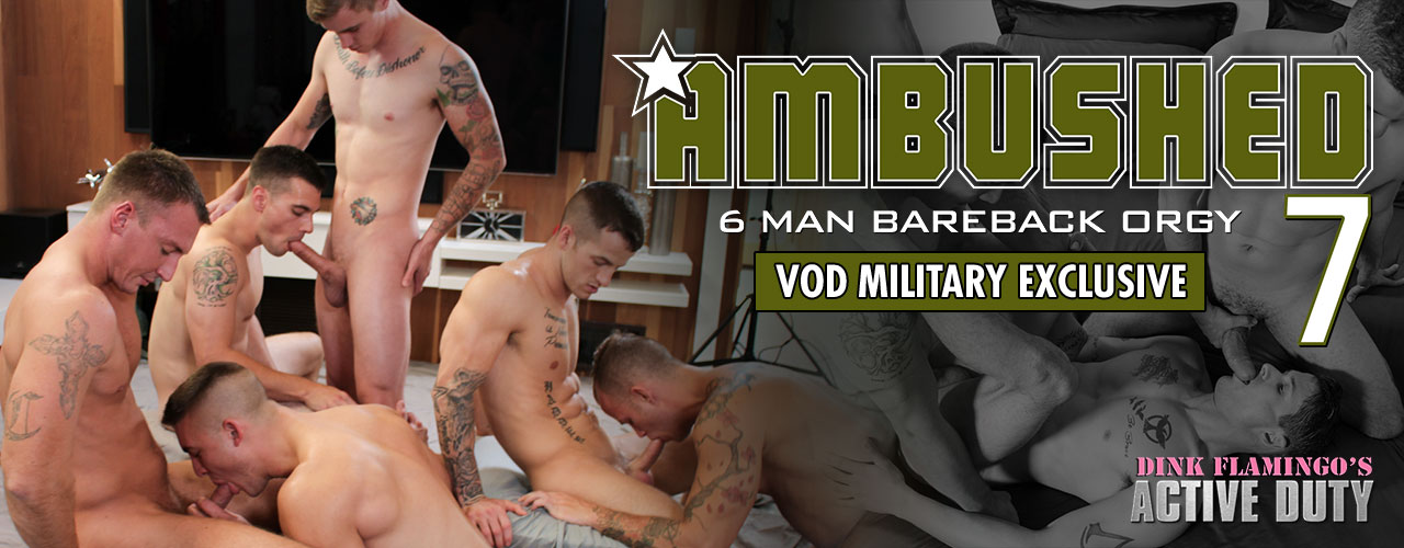 Veteran Princeton Price takes on fresh recruits Diego and Phillip Fox in a hot military three-way that commands attention!